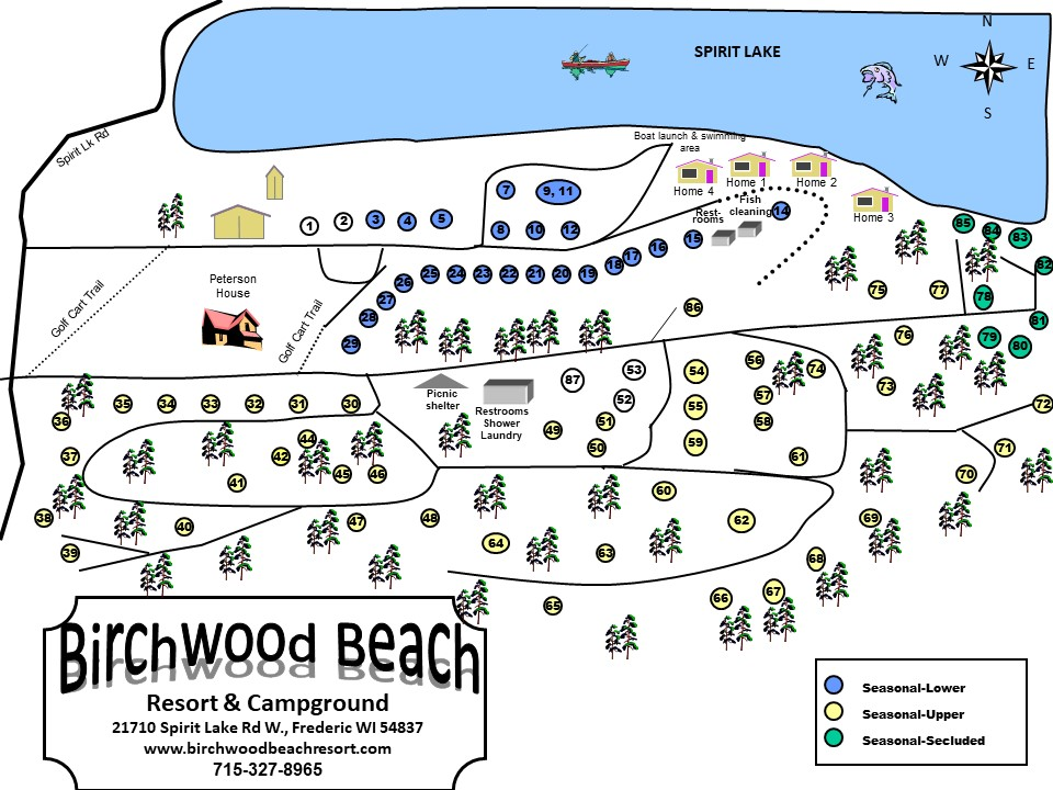 Maps – Birchwood Beach Resort
